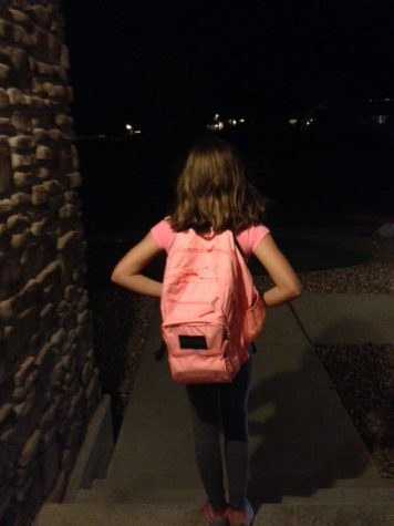 "IMG_2541.JPG ""Sydney Reid, a current DPMS student, gets out the door for another day at school"""