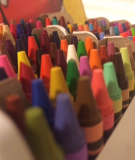 A box of crayons to do entangling with