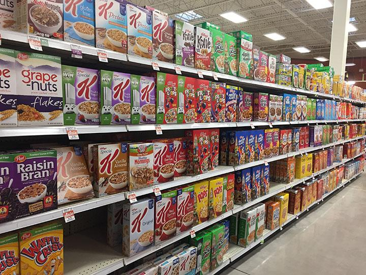 Photos of the cereal isle at Harmons Bangerter Crossing on 1/9/16.