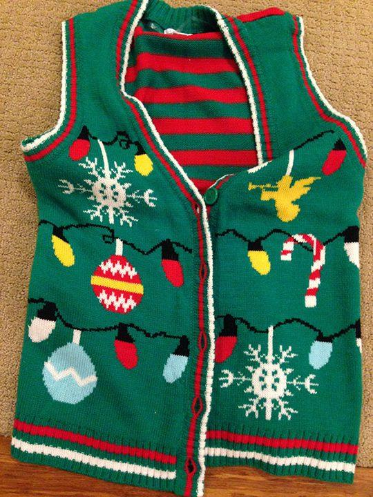 Christmas vests are great to wear during the Christmas season.