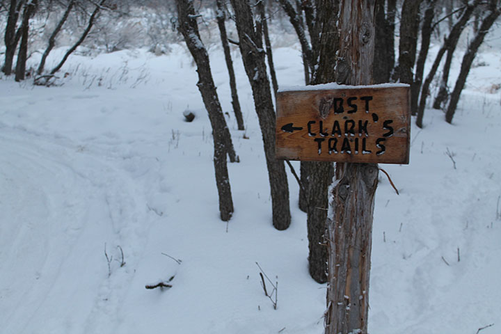 Clark's Trails on south mountain during the winter in the snow took on January 2, 2017.