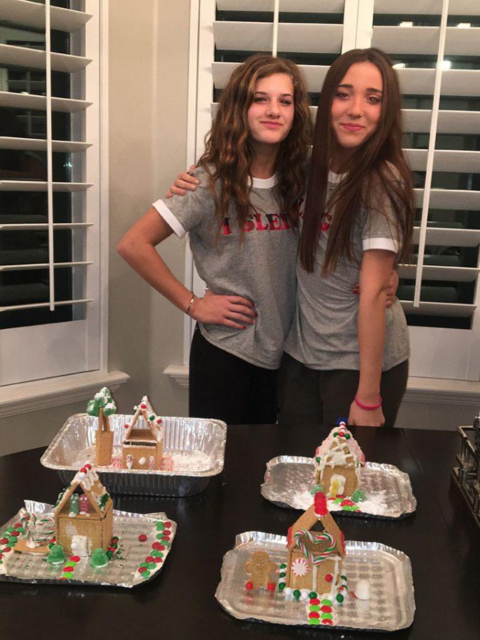 Lauren, Lily, Lola, and I made gingerbread houses too. 12/22/16