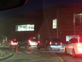 Cars are pulling forward in the drop off lane, so they can drop off their students before school stars on January 10th.