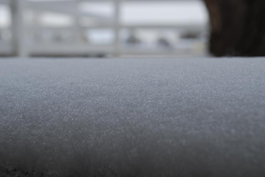 This is a picture of snow up close so you can the texture of snow.