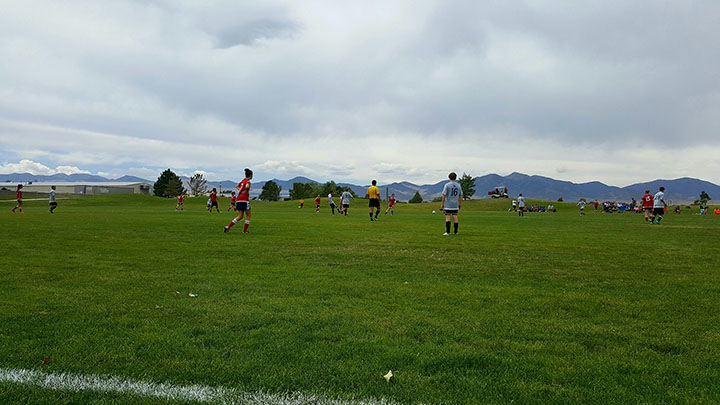 taken on 8/16/16, in Utah, and the kids are watching and running to the ball