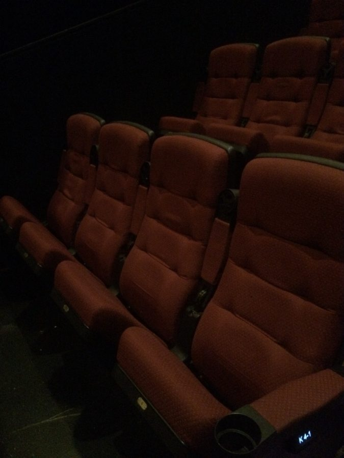 Empty seats at the megaplex theaters while The Space Between Us is starting On Saturday February 4th.