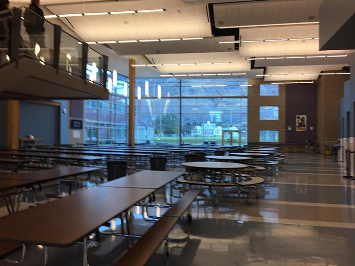 A photo of the school cafeteria in the morning before lunch. Photo taken on 2/22.