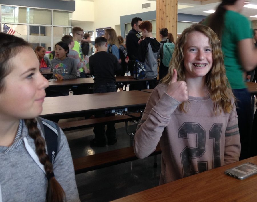 Ella Muir and other NJHS participants preparing for an NJHS meeting after school on February 8.