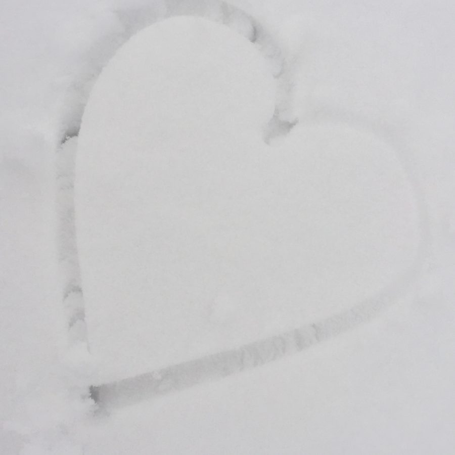 A heart drawn in the snow 2-13-17