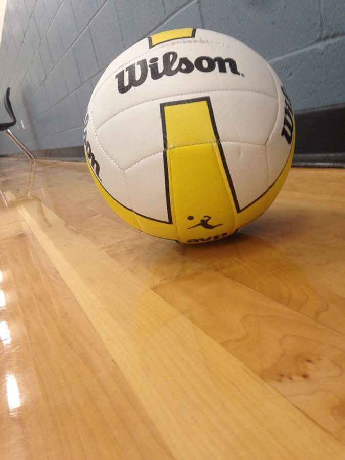 This is volleyball that has fallen out of bounds 1st period at DPMS. 2/27/17