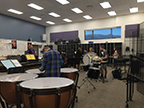 Percussion group 1 is playing Dance of the Windup Toy in 1st period on 2/15.