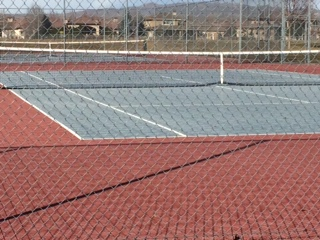 The Tennis court at Eagle middle February 19, 2017