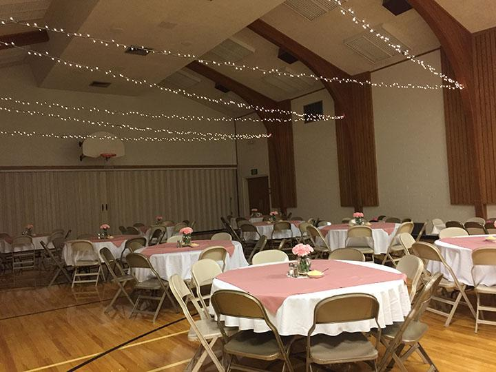 Becky Walker, parent, plans parties and events, and decorates as her job.