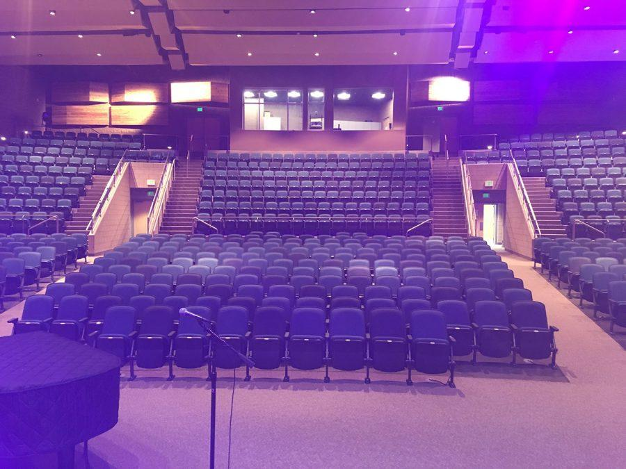 Auditorium from actors perspective on feb. 21, 2017.