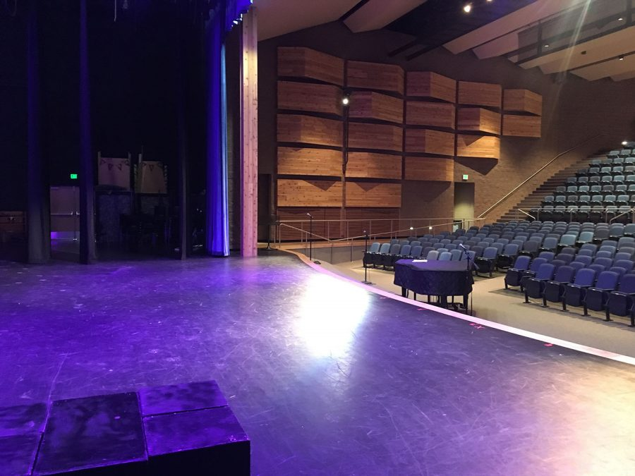 Stage right in draper park middle auditorium. Taken on Feb. 21 2017.