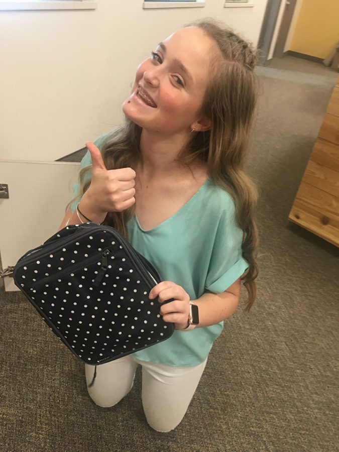 Lunch boxes are the most common item left in the school's lost and found. Luckily, Savannah Savage found her lunchbox in the lost and found on February 21st, 2017.