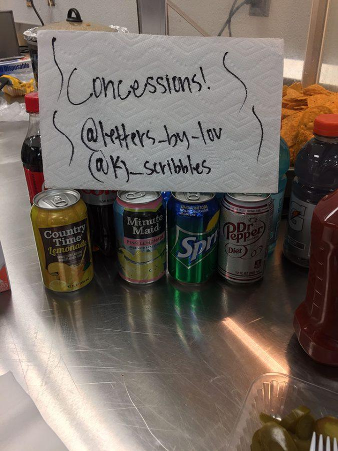 Kylie Johnson, student, works at concessions for a extra money-earning job.