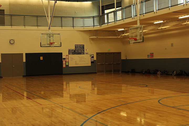 This photo was taken on January in the P.E. gym.