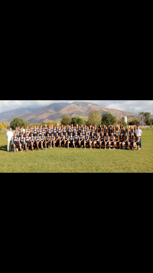 this is the cross country team for corner canyon this was taken  September 15, 2016