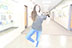 Brianna Scheirlman was doing a ballet pose in the hall way at DPMS on Feburary 23, 2017.