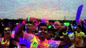 People taking a picture before the Glow Run