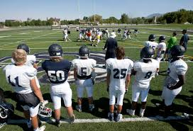 Football Safety, Tristyn Whytock, they go to corner canyon, people are playing football