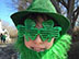 This is Sawyer Lutes all festive for a Saint Patrick's Day party in Draper, on Saint Patrick's Day.