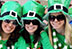 This is Susan Gunn, Holly Johns, and Cascia Lutes all dressed up for a Saint Patrick's Day party in Draper, on Saint Patrick's Day.