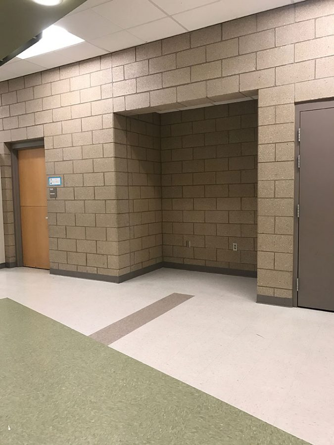 An image of where the vending machines used to be.