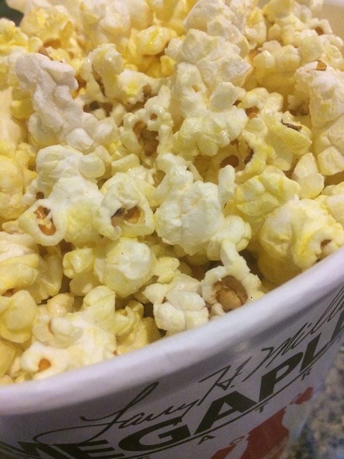 Popcorn from the Megaplex theaters ready to eat on Saturday February 4th.