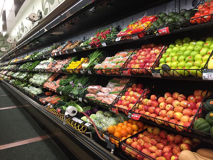 Part of the produce section including fruits and veggies at Smiths taken Tuesday February 21st.
