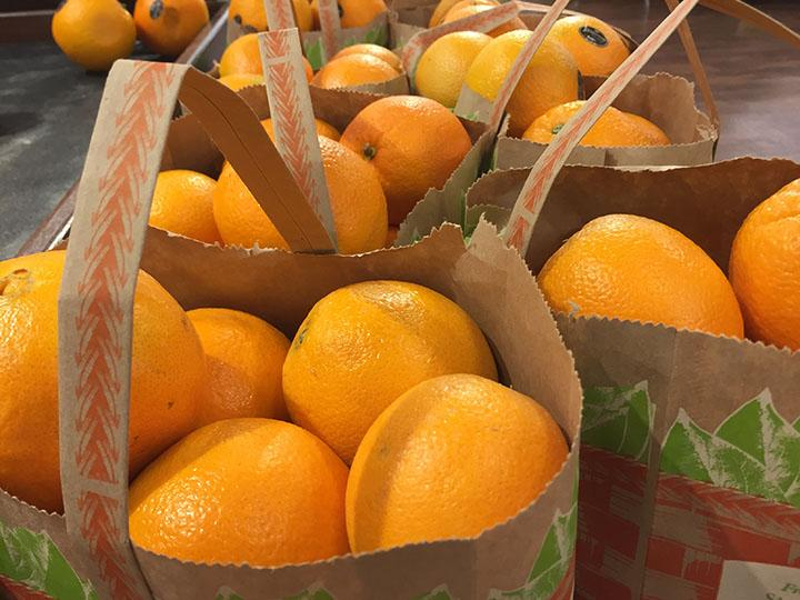 Bright and colorful oranges sold in about 10 per bag at Smiths taken February 21st