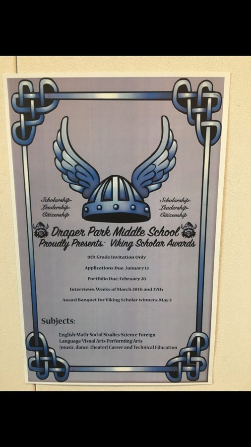 A poster that gives the information about the Viking Scholar February 21, 2017.