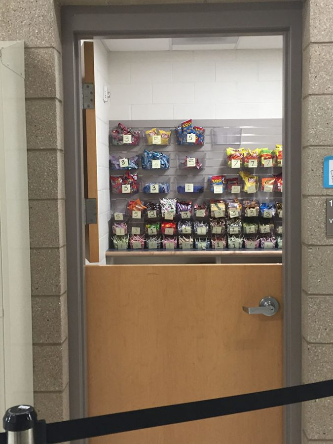 This is a picture of what the school store looks like on the inside.
