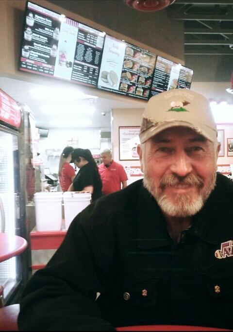 This is Jay Jessop at Freddy's waiting to get ice cream on February 28, 2017.