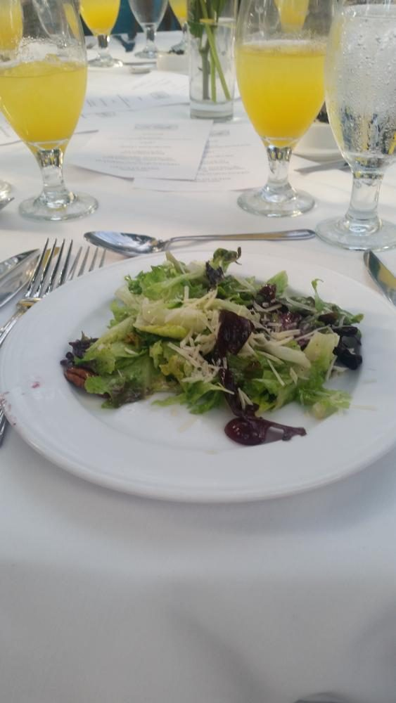 A light salad at the Restaurant lLa Caille