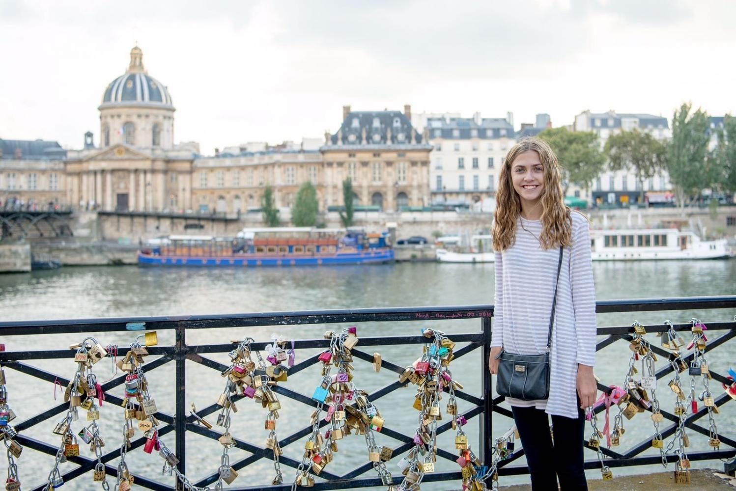 Brynn Franckowiak down at the River Seine next to the