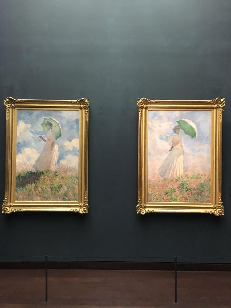 A pair of Monet's paintings in the Musée d'Orsay museum.